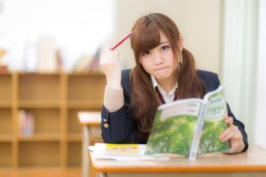 PERを勉強する女子高生